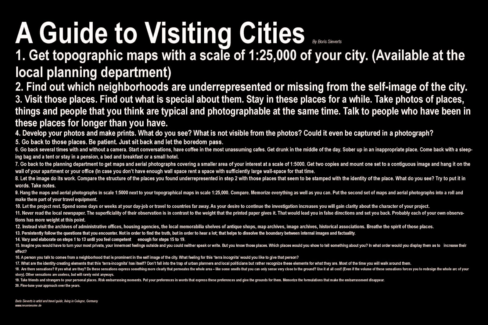 A guide to visiting cities